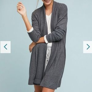 Super soft and cozy grey Anthropologie cardi!